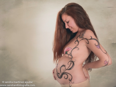 embarazo body painting